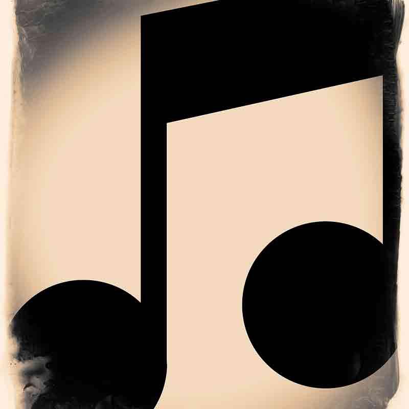 Vintage music note