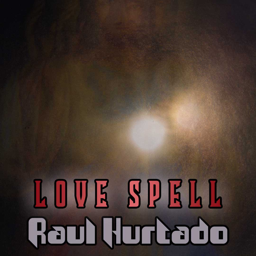 Love Spell artwork showing a bright light coming out from the heart of Jesus